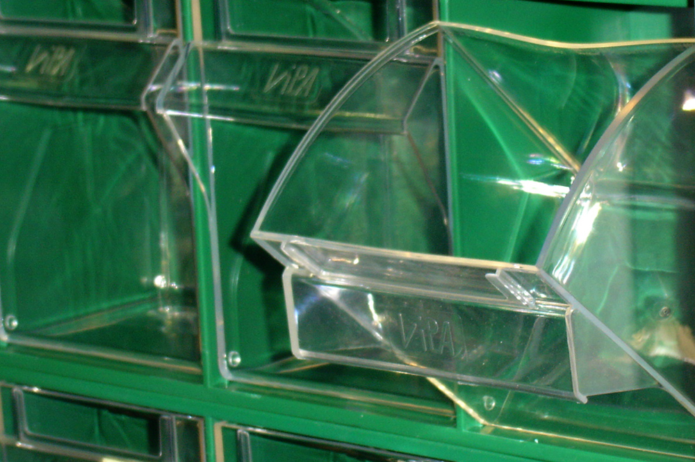 accessori in plastica per l'oganizzazione prodotti - plastic line
