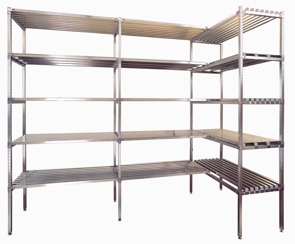 Scaffalature Metalliche Autoportanti.Scaffalature Alimentari E Per Arredo Negozi Superinox